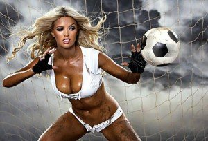 Красивая леди с мячем