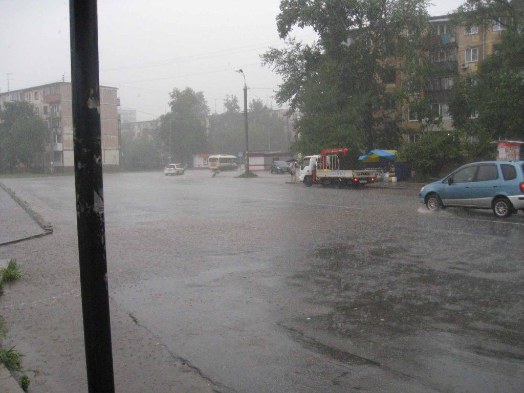 Дождик застал в расплох