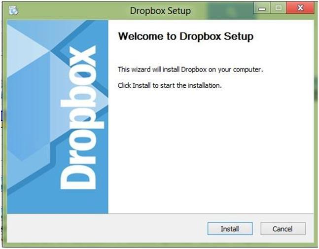 установщик Dropbox