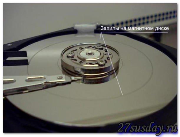 запилы на магнитном диске