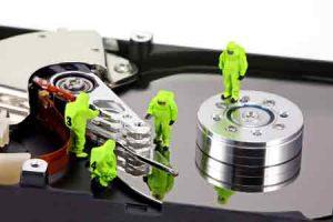 жесткий диск в разрезе