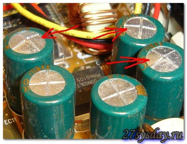 «вспухшие» конденсаторы