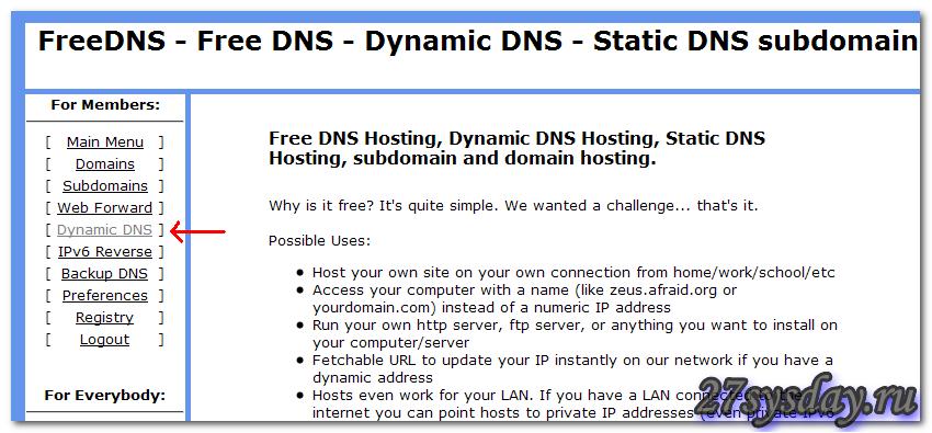 Dynamic DNS»