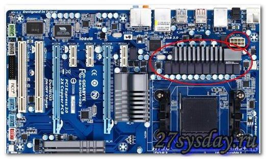 система питания CPU (на мат. плате)