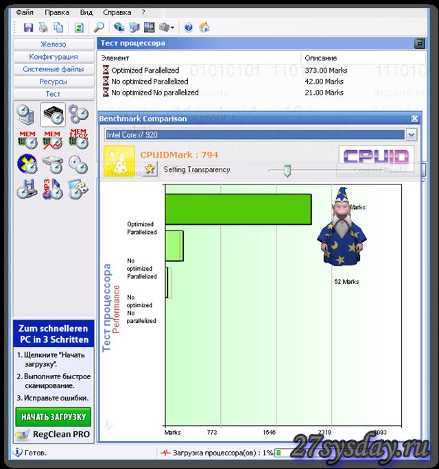 Тест производительности процессоров