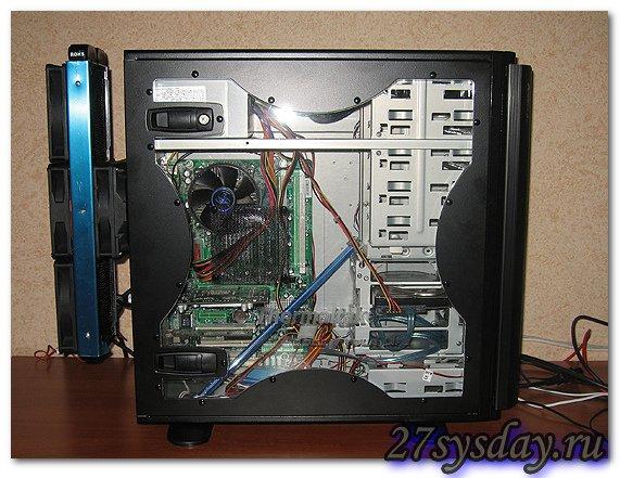 Радиатор СВО за компьютерным