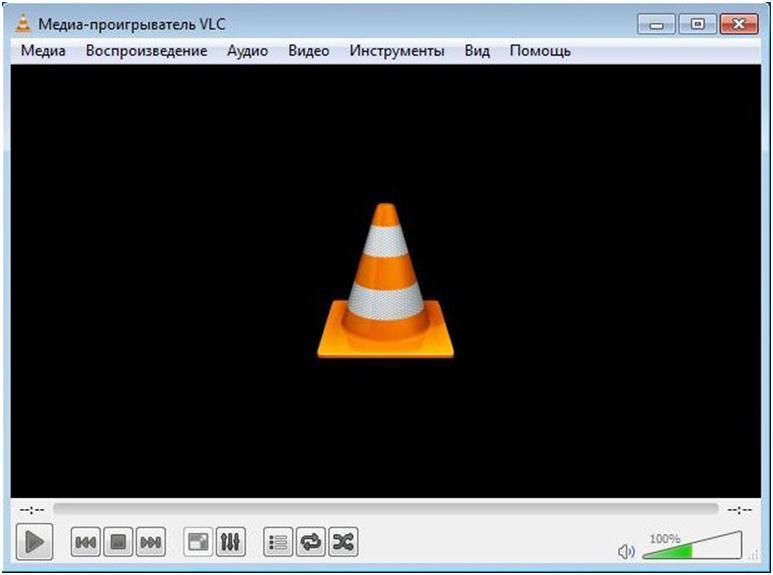 Окно VLC playera