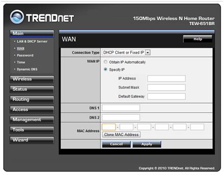 Настройка роутера trendnet tew 651br