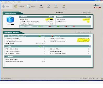 Базовая настройка Cisco 871(851)