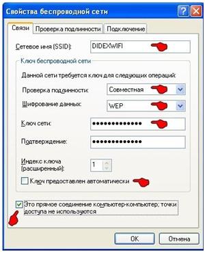 Настройка компьютера как точку доступа