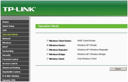 Беспроводной роутер TP-Link TL WR743nd