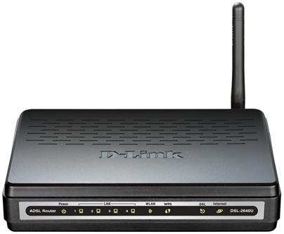 DSL роутер D Link 2640u – пошаговая настройка