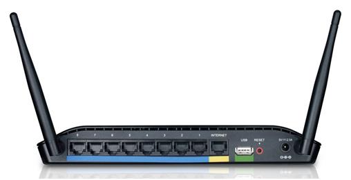 кнопки и разъемы на задней панели маршрутизатора