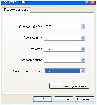 запуск терминальной программы