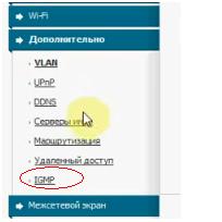 Вкладка  web-интерфейса «IGMP»