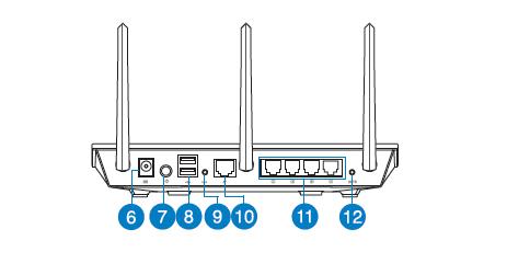 Задняя панель роутера