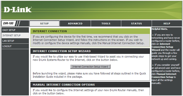 Web-интерфейс (вкладка настройки соединения)