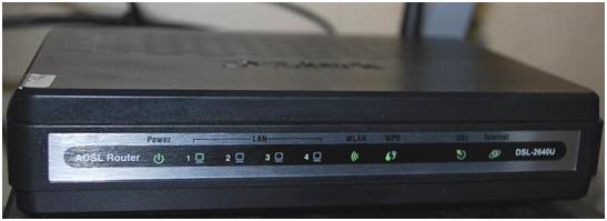 Передняя панель маршрутизатора д-линк