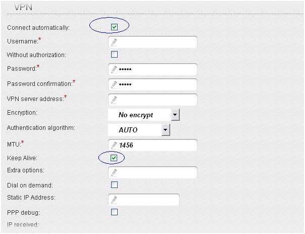 Настройка маршрутизатора L2TP