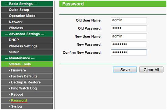 изменяем пароль администратора