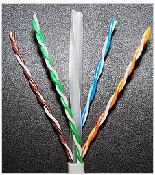 4 витые пары сетевого кабеля