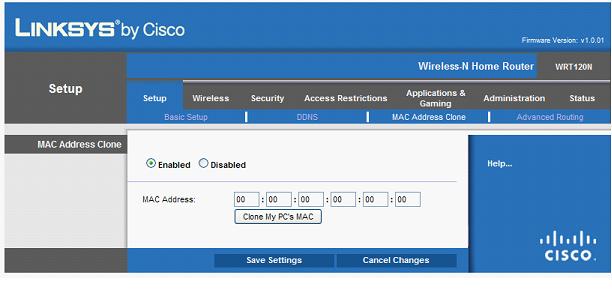 Значение MAC-адреса