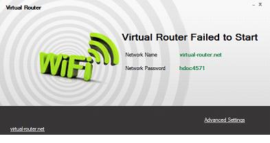 Вкладки Virtual Router