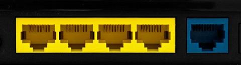 Стандартные входы у роутера