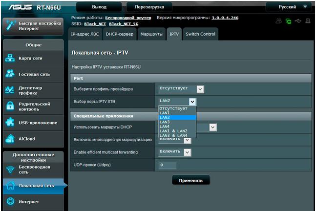Свойства IPTV