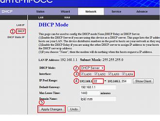 Локальный сервер DHCP