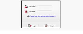 Открываем диалоговое окно для ввода логина и пароля