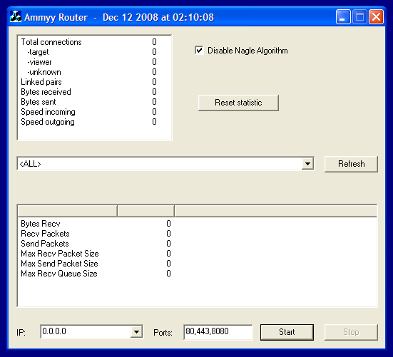 Окно Ammyy Router