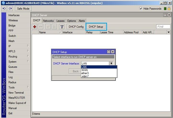 DHCP Setup