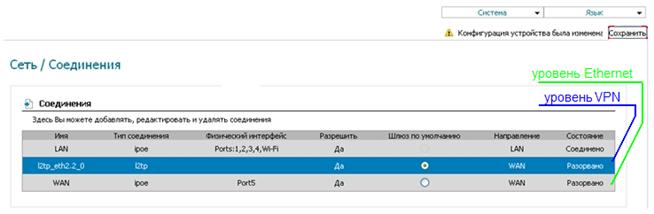 Изменение параметра MTU